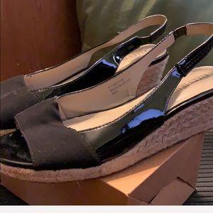 Ellen Tracy Espadrille Wedge Shoe